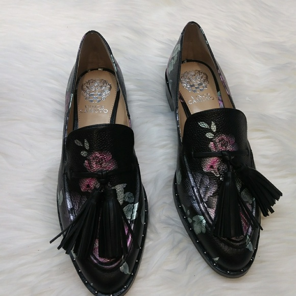 Black Floral Print Loafers   Poshmark